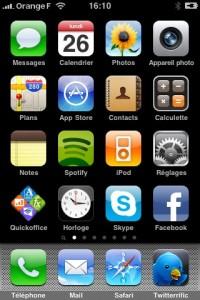 Copie d'écran, Capture d'écran Home iPhone